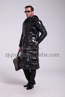 hot sale 90% down 10% feather jacket Senior black fashion clothing manufacturers