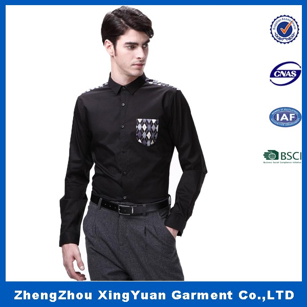 100% cotton slim gent fashion shirts for men modern style casual shirt