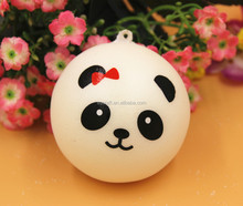 3 size artificial PU bread with panda face for magnet & party decoration