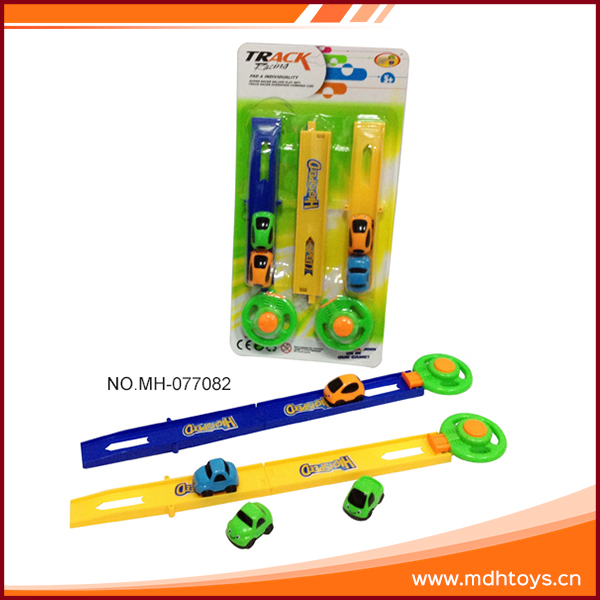 Education facility plastic mini kids plastic magic track car toy