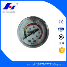 Small 30mm Stainless Steel Case Water 0-4bar/psi Manometer Tank Pressure Gauge