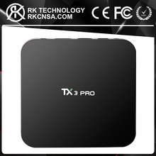 RK OTT TV Box Newest KODI Android 6.0 TV Box TX3 Pro Amlogic S905X 1GB/8GB 2.4G WIFI