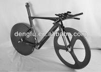 Dengfu bike/carbon time trial bicycles/Newest T700 carbon triathlon bicycle frame China Fm087