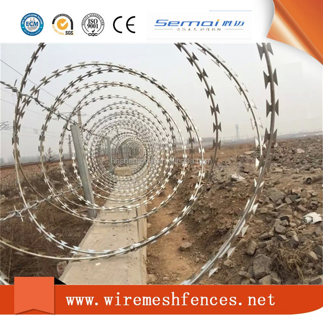 Hot dipped galvanized concertina razor barbed wire price in bangladesh