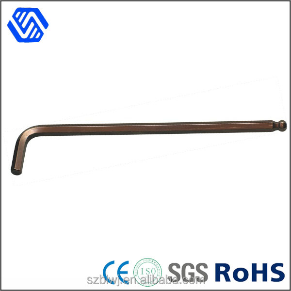 hex key spanner high quality steel allen wrench with a ball head