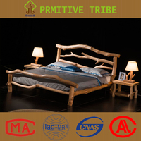 Natural Custom Made Size Latest Bed Room Furniture Wooden Bed Designs