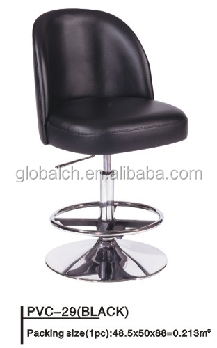 Wholesale Cheap Industrial Bar Stool Chairs PU Seat with Chromed Base and Footrest