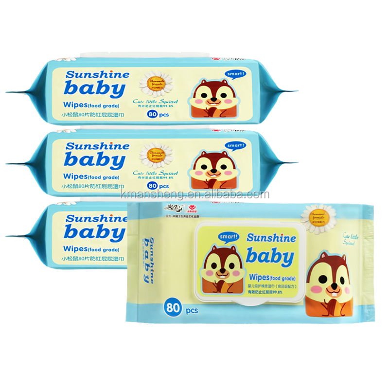 Daily Facial Cleaning Baby Wet Wipe Tissue