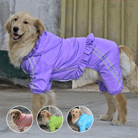 China Manufacturer Pink Blue Green Purple Waterproof Dog Raincoat For Big Dogs