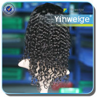 human hair kinky curly full lace wig for black women