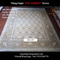 280x370cm Large Exquisite Living Room Handmade Turkish Silk Carpet Double Knotted