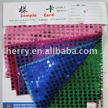 popular polyester metallic 6mm circular spangle sequin fabric for garment accessories