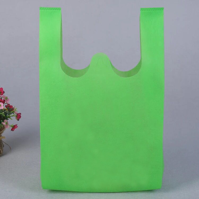 Wholesale non woven W-cut T-shirt bag