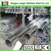 china supplier price asian weld mirror ss tube 201 304 316 316l round square rectangular erw stainless steel pipe manufacturer
