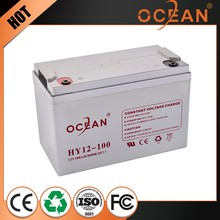 Imported great power smart 12V 100ah dry cell battery ups