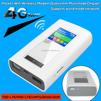 4G Router Pocket Wifi Wireless Modem Qualcomm Multimode Chipset,Support word mode network, TDD-LTE/FDD-LTE/UMTS/EDGE/GSM