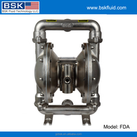 316 stainless steel valve housing and body bear transfer air double chamber pneumatic diaphragm pump