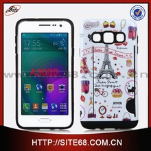 Customized Printing PC+TPU combo cover case For Samsung A3