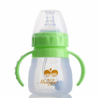 new sale cute wide neck 120ml bottom price durable liquid silicone feeding bottle free baby bottle samples 2014