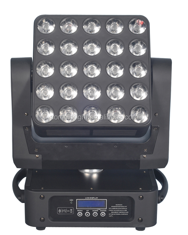 25*10W RGBW 4in1 5x5 led matrix moving head light