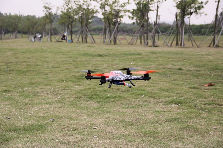 China 2016 new products 6CH 400 3D rolling outdoor Brushless Motor Quadcopter Feilun RC Plane Kit