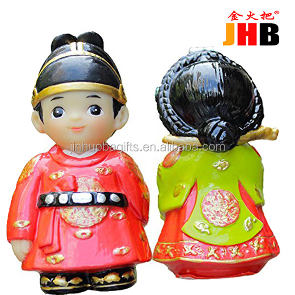 Jin Huo Ba, Handmade Cute Resin Korean Couples Doll figurine for home decor