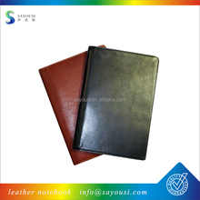 promotional custom logo blank pages printing hardcover A4 PU notebook