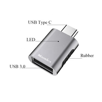 USB 3.1 Type C Aluminum Type USB C To USB A adapter