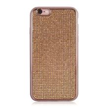 2017 Ultra Thin Clean Soft TPU Mobile Phone Case,Plating Glitter Diamond Cover For iPhone 6 6 Plus