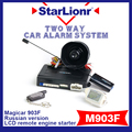 Popular Welcomed Magicar Two Way Car Alarm System Two Way Security System M903F 903F Remote Engine Start Stop