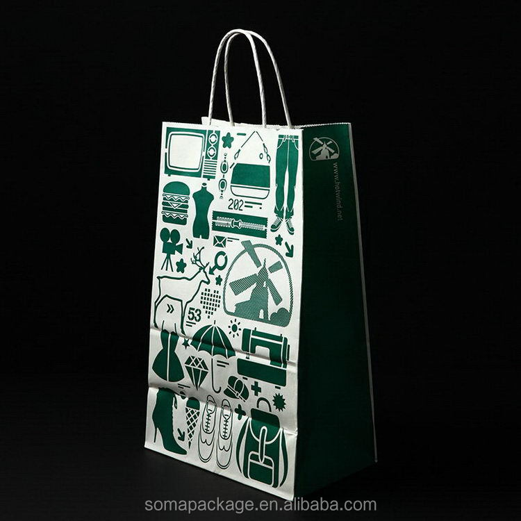 Elegant appearance promotional paper gift bag for wine