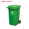 Eco-friendly hdpe square large plastic waste mobile garbage bin 240L