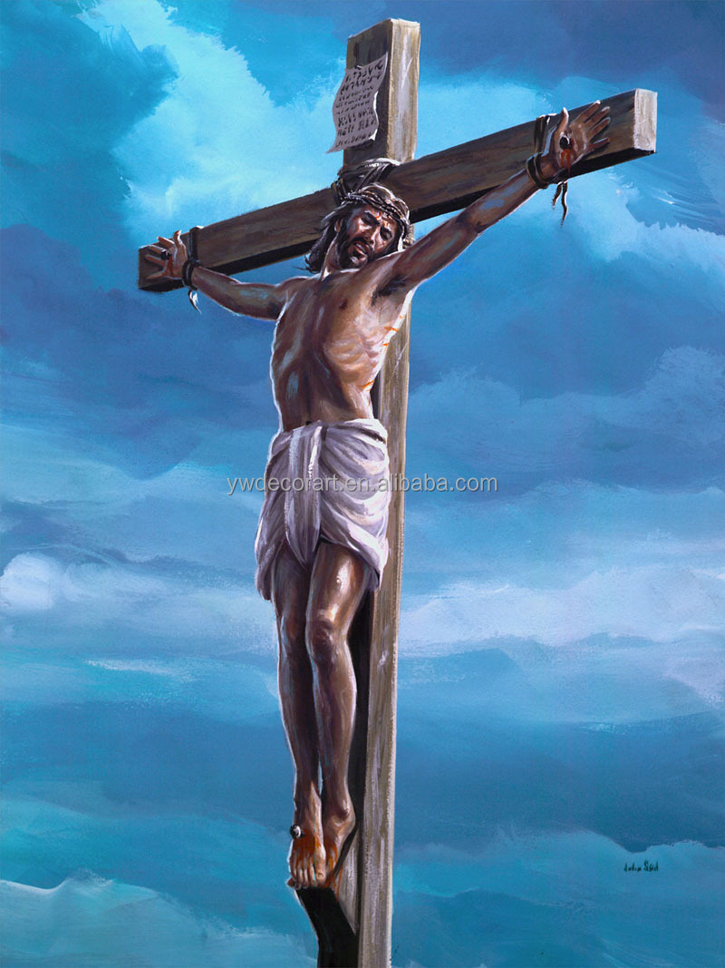 Hand paint Jesus Oil Painting on Canvas