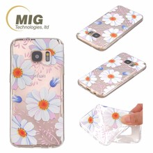 Transparent colorful drawing flower soft TPU case For apple iphone 6s Mobile phone cover for apple iphone 6 plus