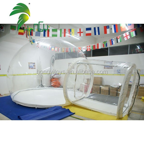 Transparent PVC Custom Camping Lawn Tent / Outdoor Clear Inflatable Airtight Tent
