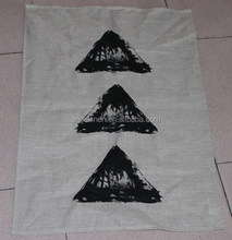 plain cotton linen kitchen tea towel with printing/stone washed for wholesale
