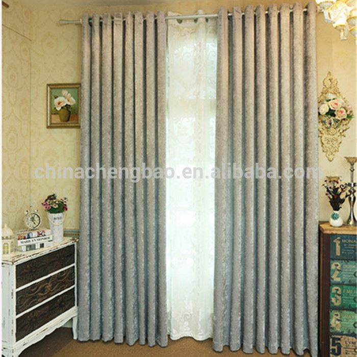 Japanese style fabric hotel window curtain with track