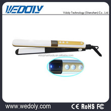 New Ceramic Hair Straightener Travel Flat Iron Yellow fast hair straightener brush