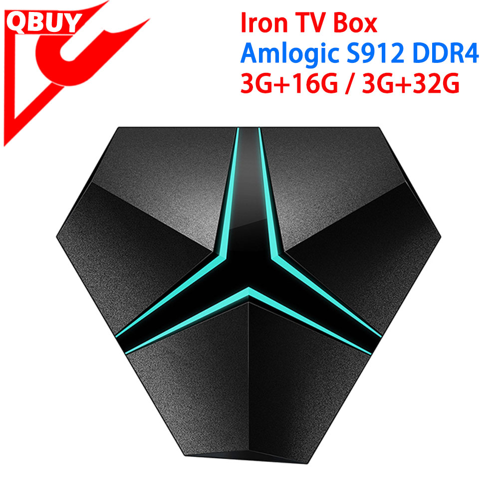 Amlogic S912 Smart Android TV Box IRON DDR4 3GB RAM 16GB 32GB ROM 4K Octa Core TV Box Bluetooth 4.1 WIFI Kodi 17.0 IRON TV BOX
