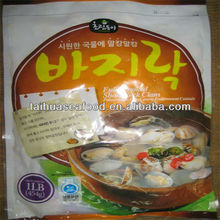 frozen clam meat cooked with shell