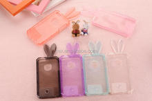 For Apple iPhone 5 5s 4 Samsung S5 Note 3 Wholesales Clear Crystal Soft TPU Bunny Rabbit Case