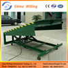 2 ton stationary loading ramp /electric motorcycle hydraulic ramps