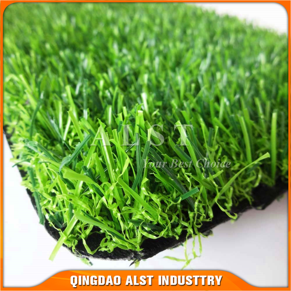 4 color natural green color U-shape artificial grass for landscaping