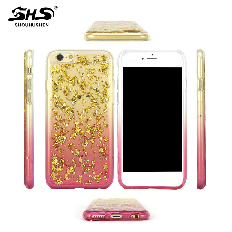 SHS Glitter Shinning Drop Glue Soft TPU Mobile Phone For Oppo R7 R7 Plus R9 R9 Plus
