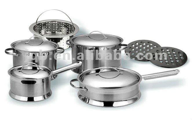 High quanlity stainless steel cooking pot set stock pot set
