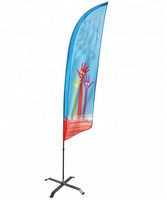High Quality Teardrop Beach Feather Flying Flag With Aluminium Pole