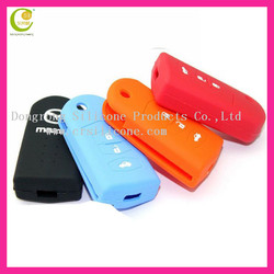 Hot selling promotional low price silicone rubber car plastic key covers in stock for Mazda