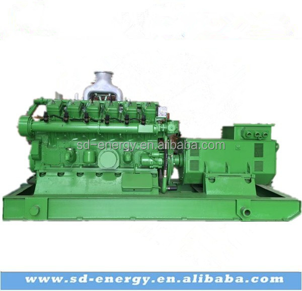 300KW 500KW 600KW Gas turbine water cooling biomass electric power generator