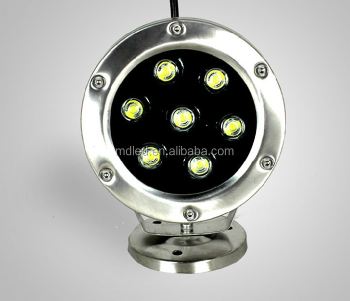 6W led underwater lamp DC12V IP68 stainless steel dmx led underwater light solar powered underwater lights