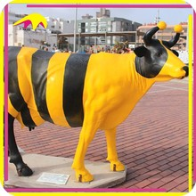 KANO6745 Theme Park Animated Real Size Cow Fiberglass